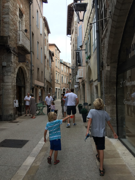 Walking through some of the back streets of Cahors
