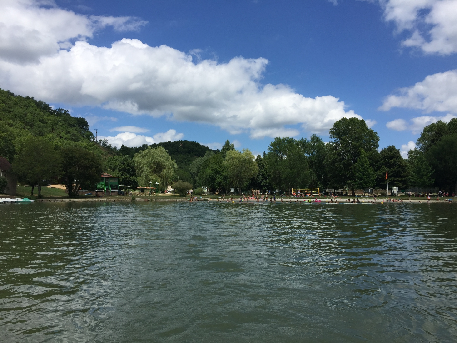 Our nearby Lac Vert at Catus. A lot of fun to be had here on pedalos!